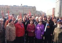 Калужские ветераны выразили солидарность и скорбь петербуржцам в ходе акции на Манежной площади в Москве