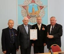 Священная земля Брестской крепости в музее Российского Союза ветеранов