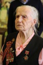 Участнице оборонительных боёв за Москву Антонине Павловне Кораблёвой 95 лет