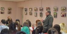 Лекторская группа Чувашского республиканского отделения Российского Союза ветеранов бесед со столичной молодёжью об угрозе терроризма, о Бородинском сражении, о праздновании Дня танкиста