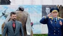 Члены Российского Союза ветеранов участвовали в открытии памятника лётчику Виталию Васильевичу Силантьеву