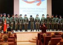 Ветераны Калининградской области участвовали в церемонии проводов призывников, направленных служить в Президентский полк