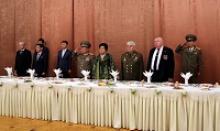 В дни празднования 85-й годовщины Корейской народной революционной армии делегация Российского Союза ветеранов была приглашена в Посольство КНДР