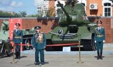 АМУРПРЕСС сообщает: в Военно-историческом музее Дальневосточного военного округа был торжественно представлен обновленный экспонат – легендарный танк Т-34