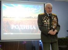 Студенты Калининградского колледжа чествовали ветерана Великой Отечественной войны Николая Павловича Щербакова