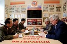 Генерал-майор Ким Ен Зин, старший полковник Пак Сен Чхол и подполковник Ли Зу Ен посетили с рабочим визитом Российский Союз ветеранов
