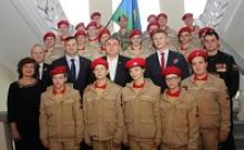 Посвящение в юнармейцы в Орловском военно-историческом музее