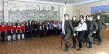 Ветераны калужских пятиклассников приняли в юнармейцы