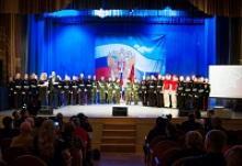 Первая в Томской области торжественная церемония посвящения в юнармейцы для подростков, учащихся Томской области