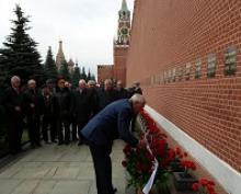 Члены Российского Союза ветеранов и ветераны Генерального штаба почтили память Маршала Советского Союза Бориса Михайловича Шапошникова в день 135-летия со дня его рождения