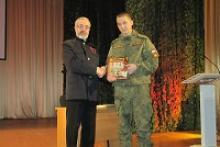 Встреча писателя Сергея Полонского с военнослужащими