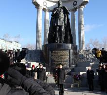 Торжественная церемония вручения знамени Управления Федеральной службы судебных приставов по Москве и церемония принятия присяги