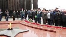 В канун 70-летия Великой Победы в Хабаровске состоялось открытие после реставрации Мемориала Славы и церемония зажжения Вечного огня