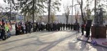 В городе Томске по инициативе Томского областного комитета ветеранов войны и военной службы состоялся митинг, посвященный 75-летию формирования 166-й стрелковой дивизии