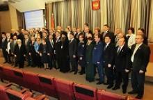 Впервые в Тульском регионе по инициативе губернатора области 2 декабря 2014 года вновь избранные депутаты приняли Присягу на верность служения России и Тульской области, жителям области