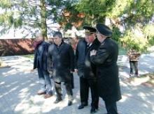 Посещение делегации Российского Союза ветеранов Братской могилы советских воинов, погибших в январе 1945 года в Орловке