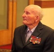 В день своего рождения рядовой Михаил Александрович Марцинович получил поздравления от Российского Союза ветеранов