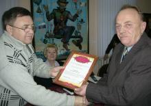 Вологодские чернобыльцы наградили руководителя корпункта сайта Российского Союза ветеранов