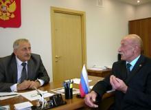 Председатель Вологодского регионального отделения Российского Союза ветеранов побеседовал с Главным федеральным инспектором по Вологодской области