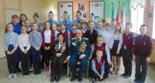 Ветераны Великой Отечественной войны вместе со школьниками 17-го лицея города Калининграда отметили 77-ю годовщину битвы за Москву