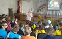 Встреча писателя Сергея Полонского с учащимися и преподавательским коллективом школы №17 города Череповец